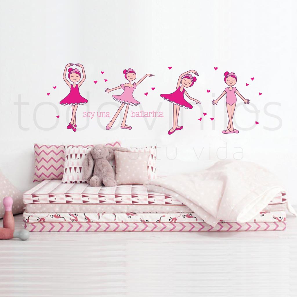 Bailarinas todo vinilos for Vinilo para habitacion de nena
