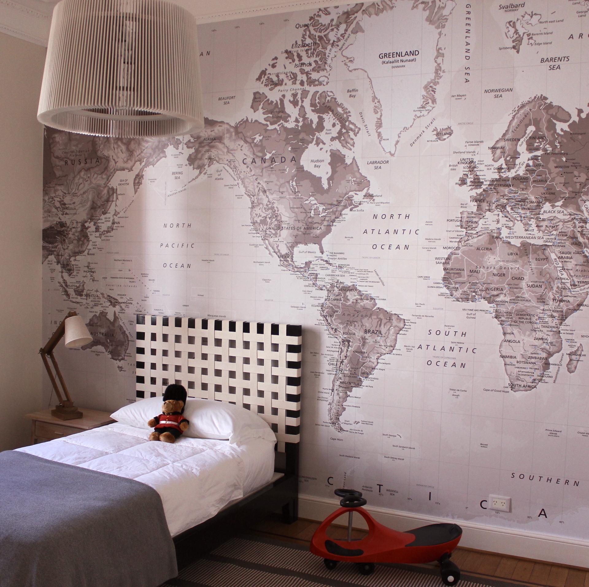 Mapamundi mural | Todo Vinilos